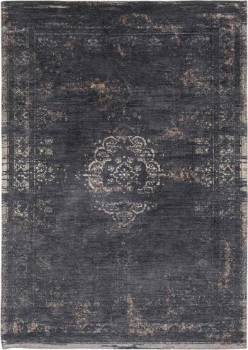 vloerkleed Louis De Poortere AV 8263 Fading World Medaillon Mineral Black