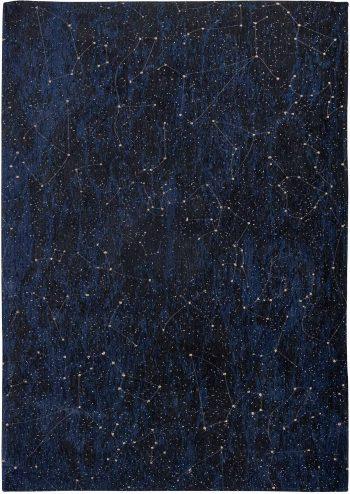 Louis De Poortere vloerkleed Fischbacher 9060 Celestial Midnight Blue